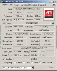 X800 XT PE GPUZ